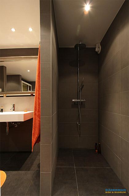 Badrum med fristående badkar