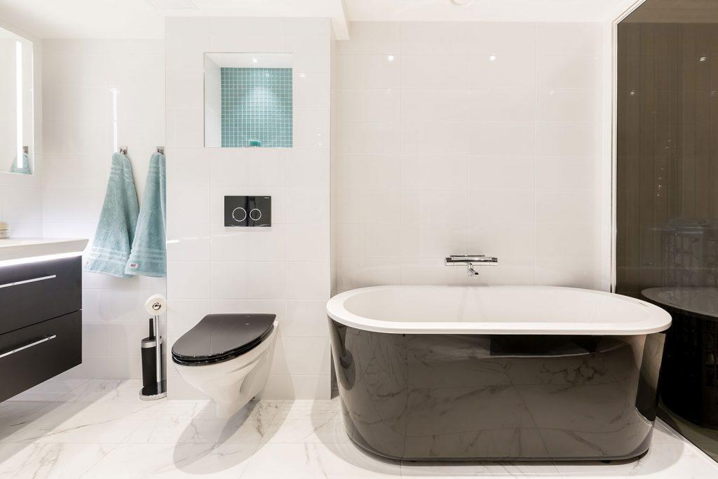 Renovering av badrum med bastu