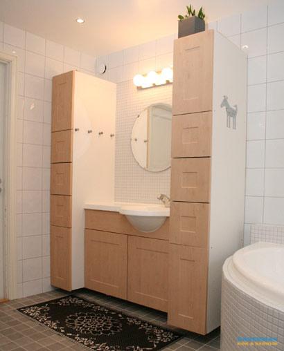 Barnvänligt badrum med mosaik