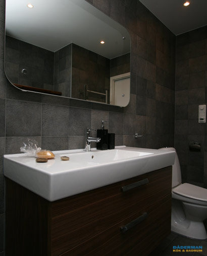 Fint badrum utan fönster i Botkyrka