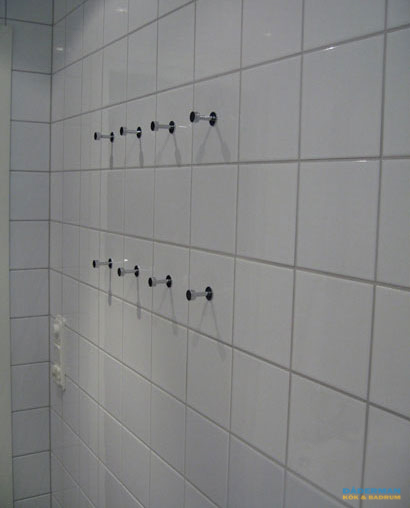 Inkaklat badkar med mosaik
