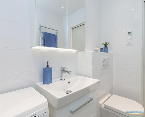 Litet badrum i Årsta efter badrumsrenovering