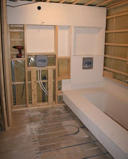 Lyxig badrumsrenovering i Täby
