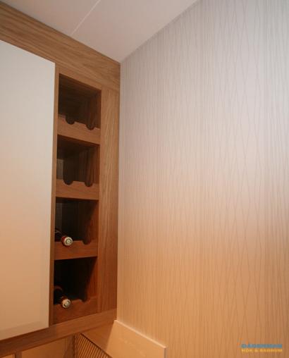 Kök med vägghängd takfläkt