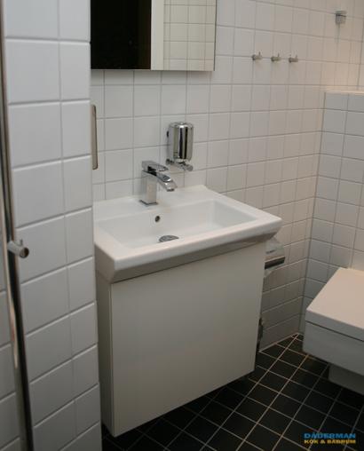 Litet badrum med exklusiva detaljer