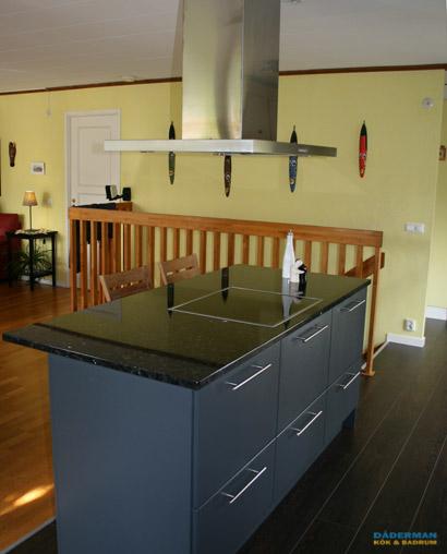 Modernt kök med keramikhäll